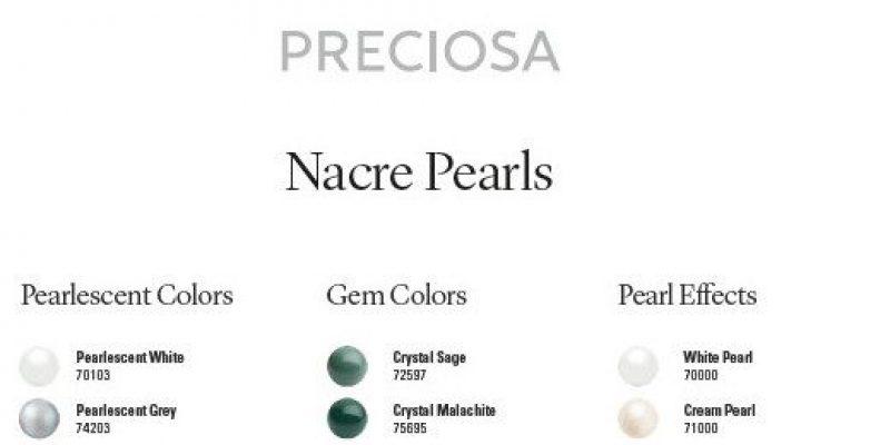Cartella Colori Perle Nacrè